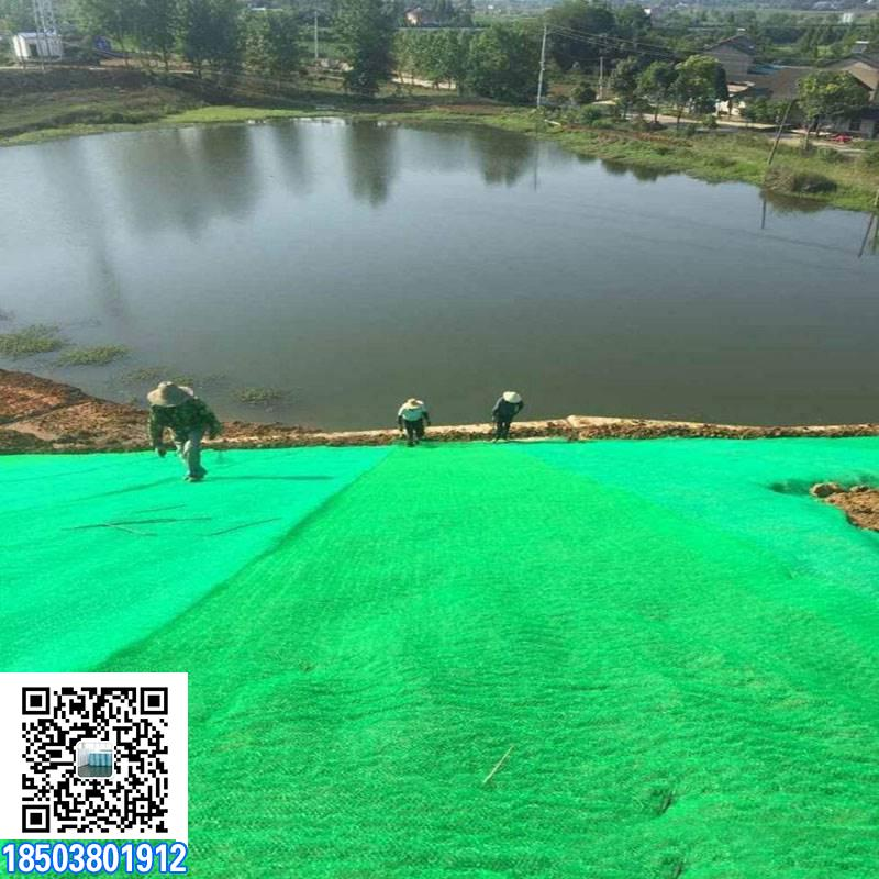 绿化护坡土工布施工中