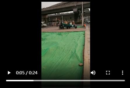绿化土工布无纺布施工现场